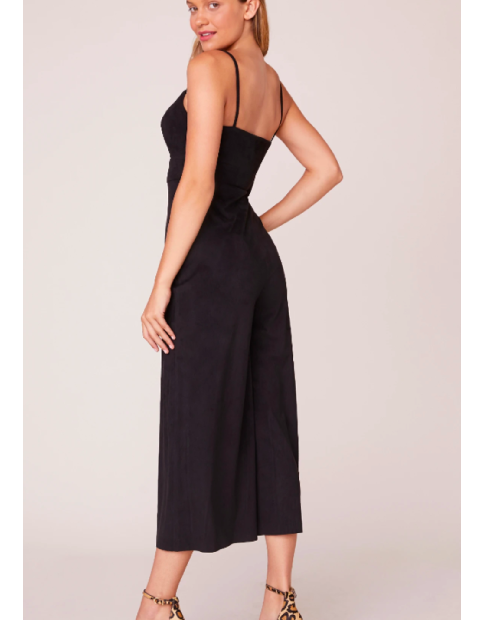SUEDE BLACK JUMPSUIT