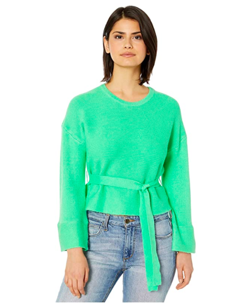 WOMAN IN LOVE BELTED SWEATER