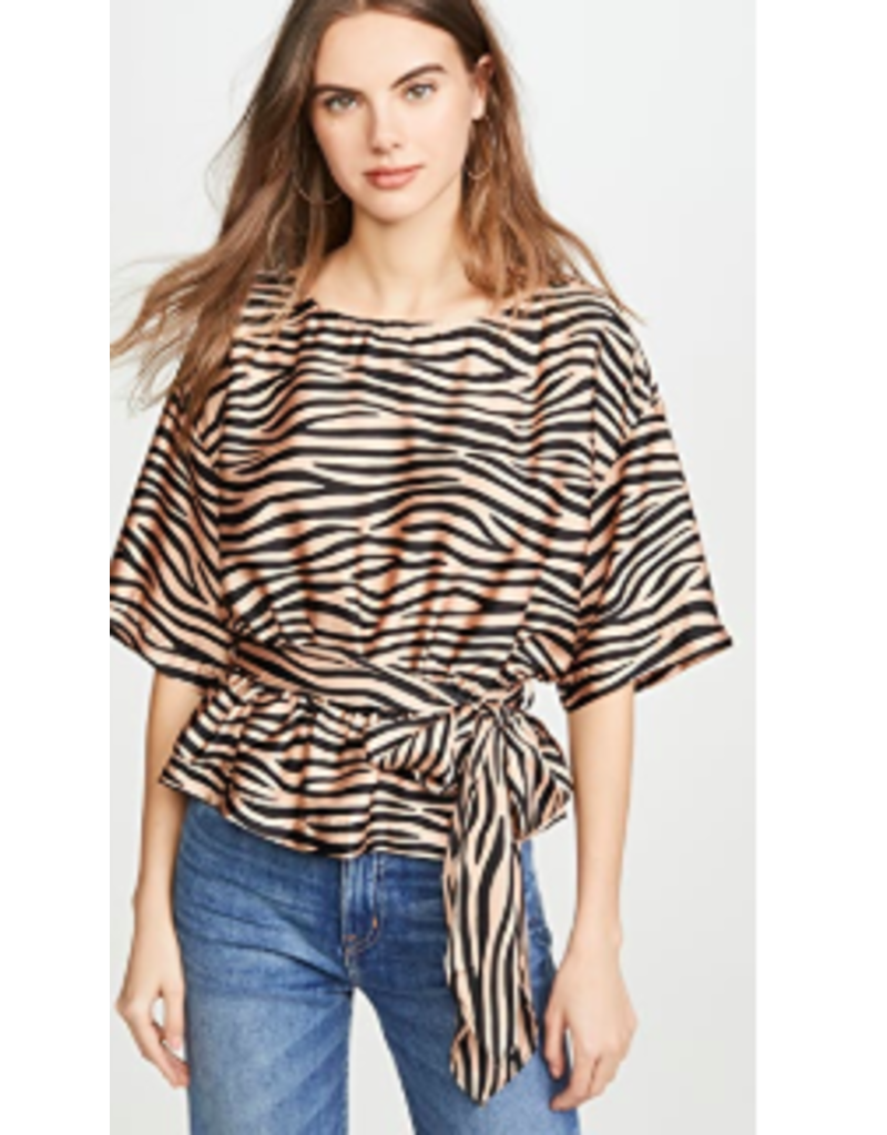 SILKY TIGER BLOUSE