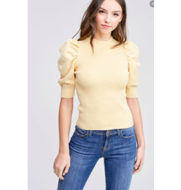 EN SAISON PUFF SLEEVE SWEATER TOP