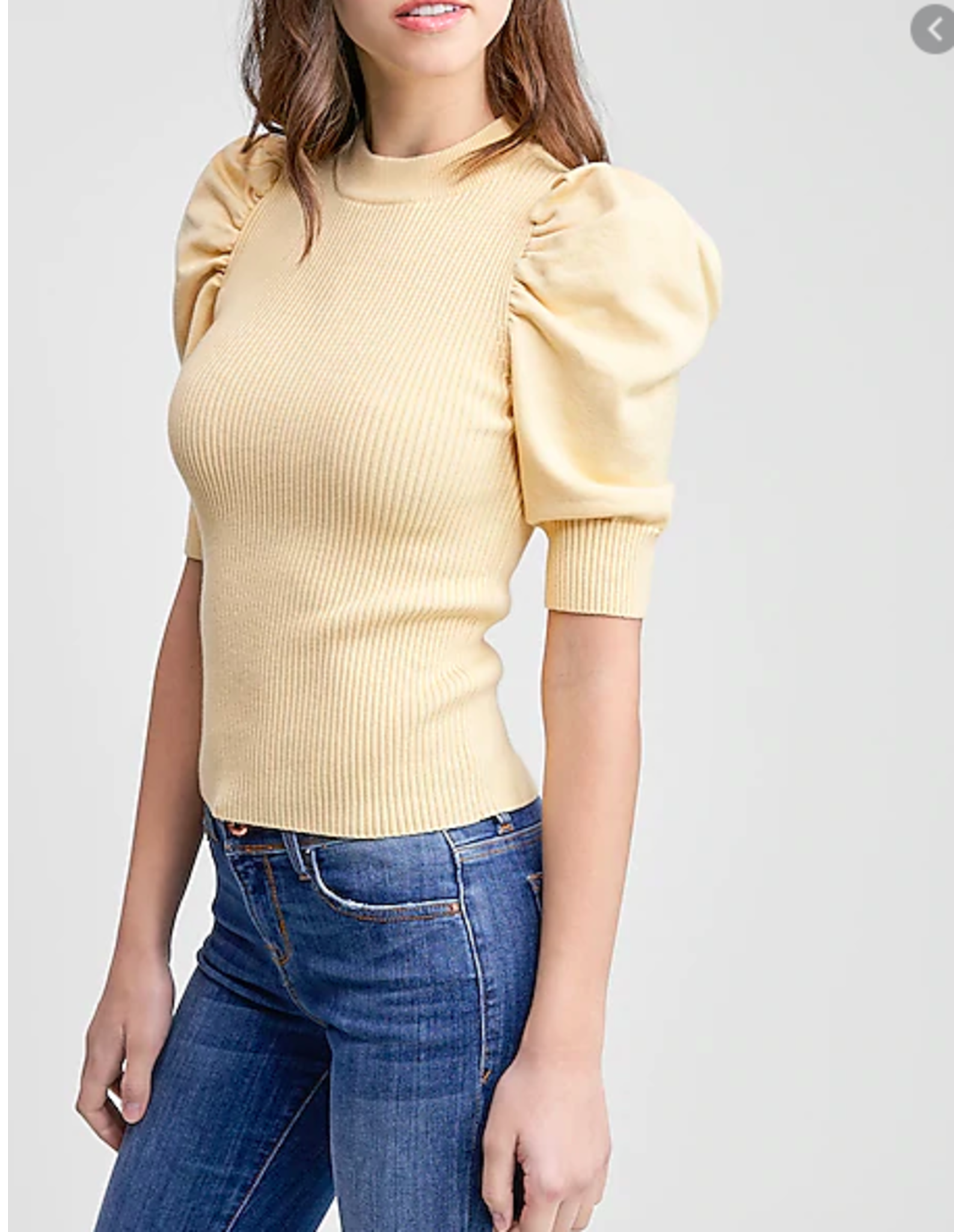 PUFF SLEEVE SWEATER TOP