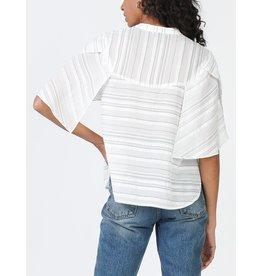 CAPE SLEEVE STRIPE TOP