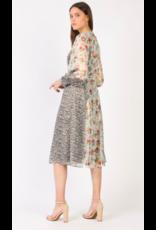 FLORAL SHIMMER MAXI DRESS