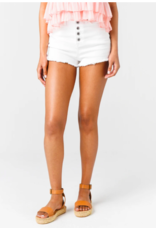 DENIM SHORTS HIGH BUTTON FRONT