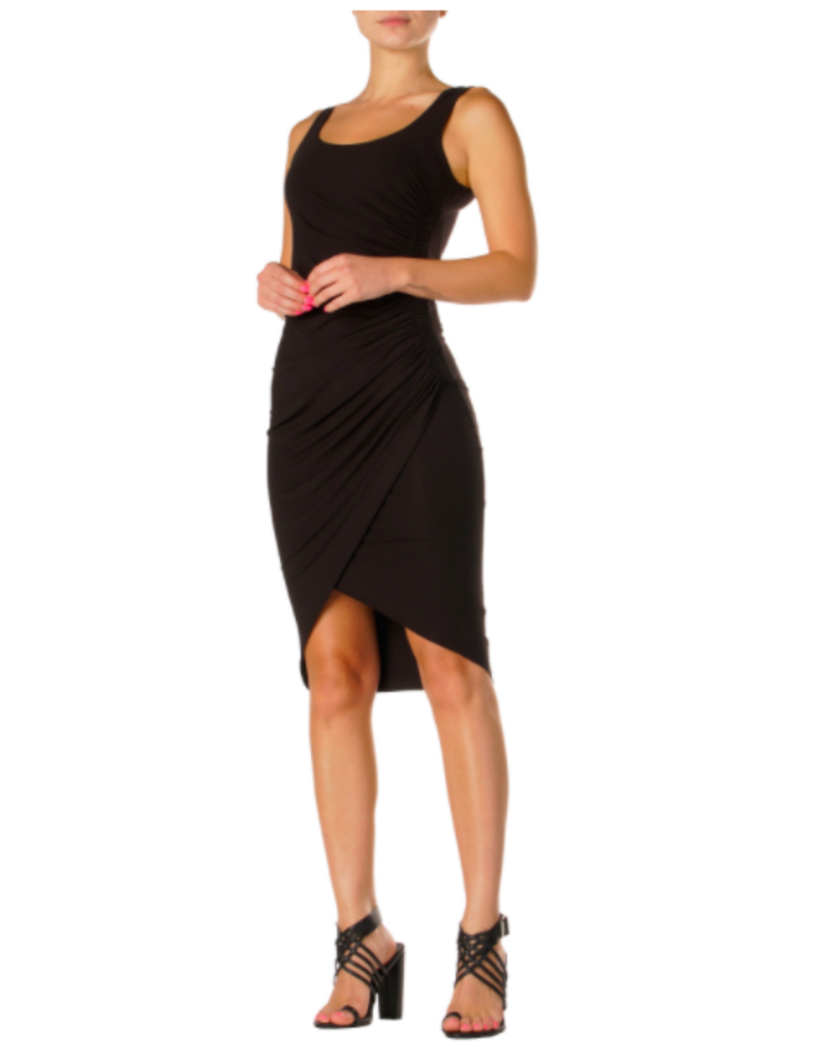 TANK DRESS WITH RUCHED SIDE