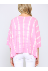 KNIT TOP TIE-DYE STRIPED