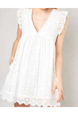 EYELET LACE ROMPER