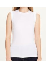 LUXURY RIBBED SLEEVELESS TEE