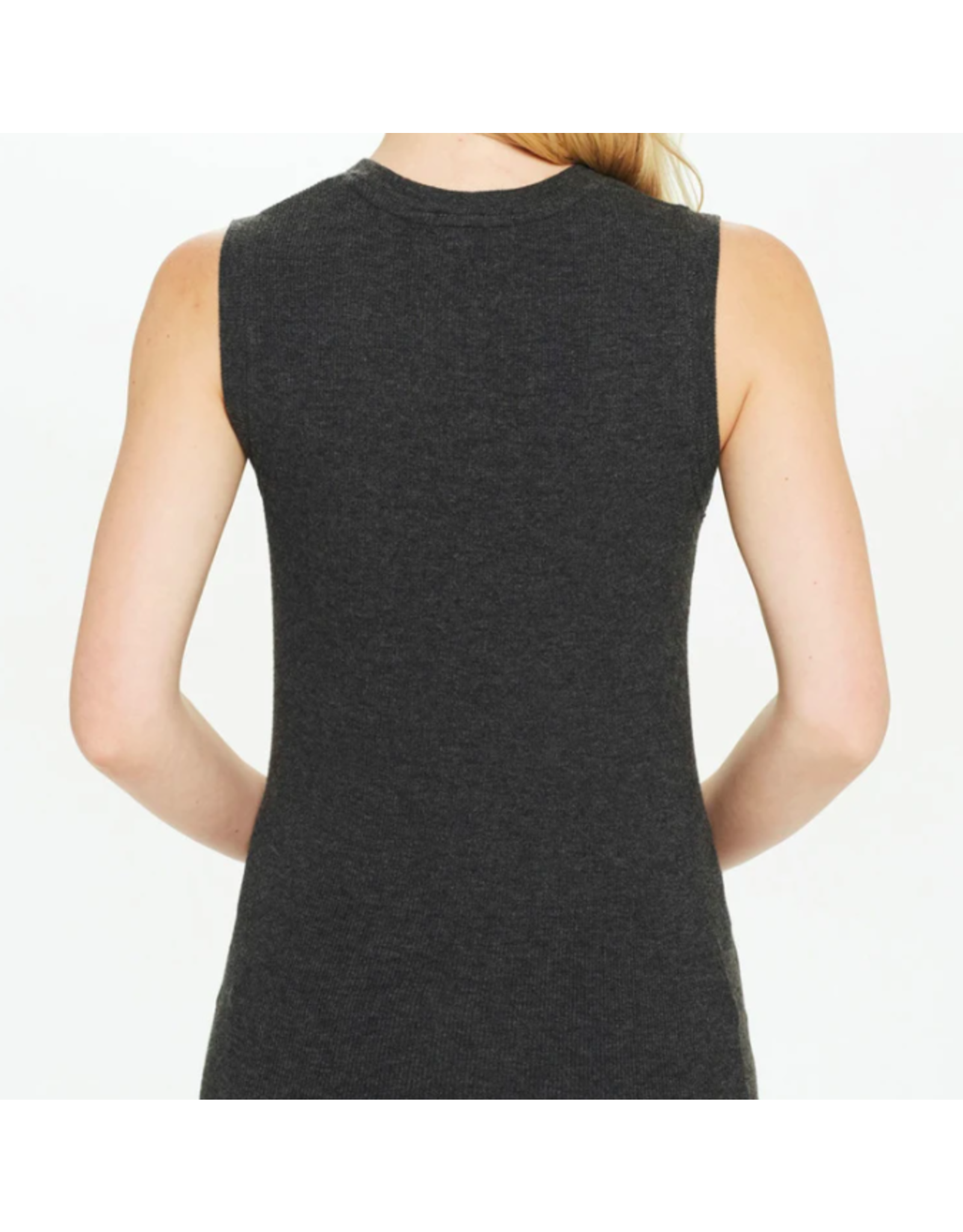 GOLDIE LUXURY RIBBED SLEEVELESS TEE