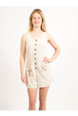 VERY J BUTTON FRONT ROMPER