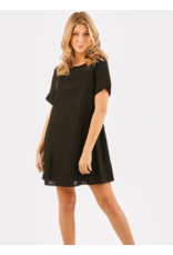 SHORT SLEEVE DRESS  WITH BUTTON BACK
