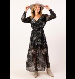 LOVESTITCH SMOCKED WAIST FLORAL MAXI DRESS