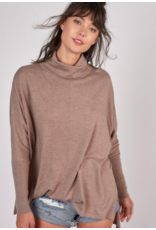 HIGH NECK THIN KNIT TUNIC TOP