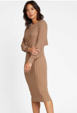 BODY CON MIDI SWEATER DRESS