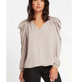 PUFF LONG SLV ROUND NECK TOP