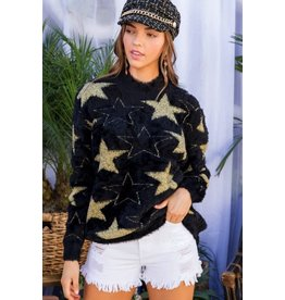 MOHAIR STAR SWEATER