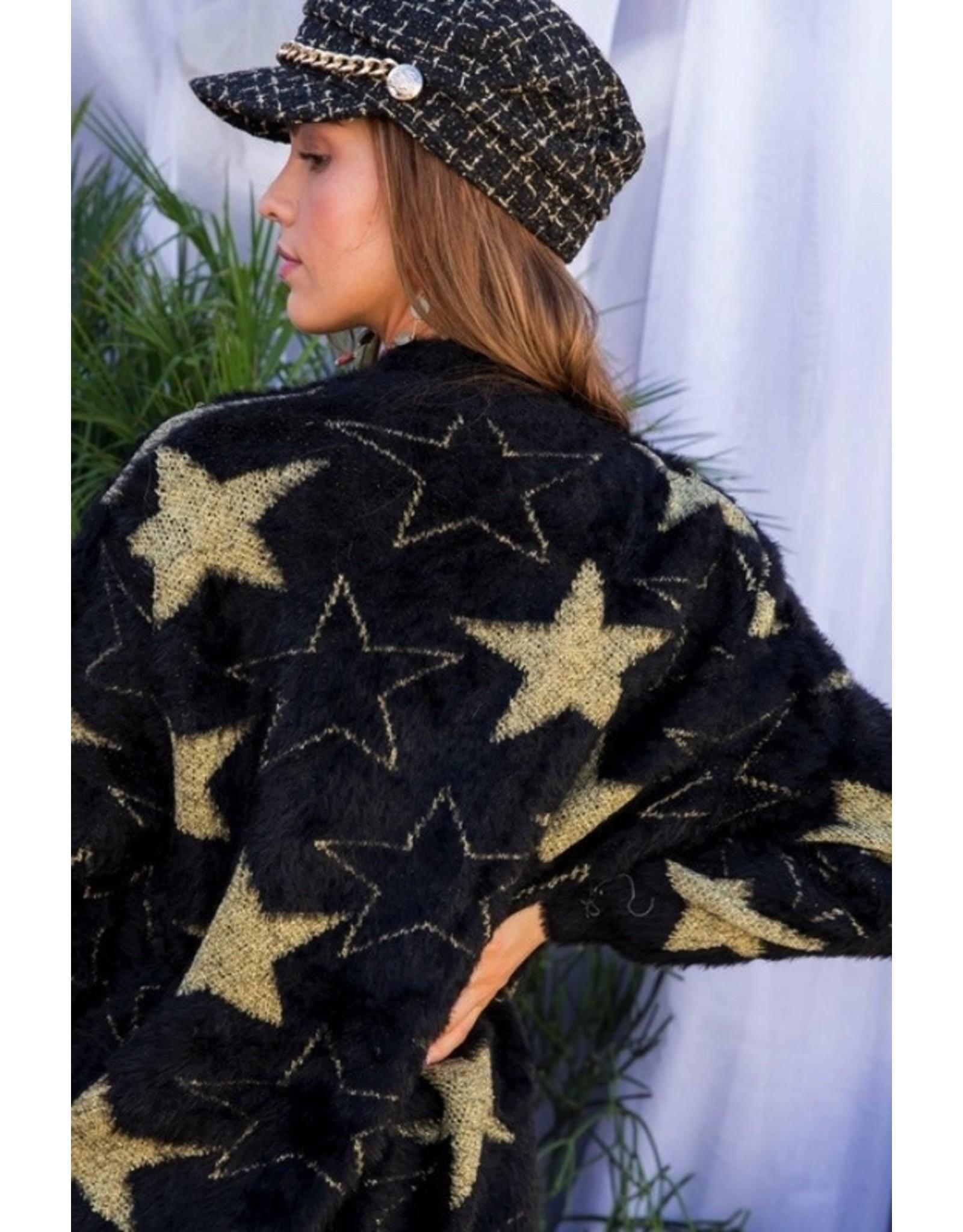 MOHAIR STAR SWEATER