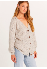 OVERSIZED BUTTON UP CARDIGAN