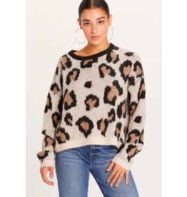 LARGE PRINT LEOPARD SWEATER