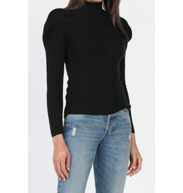 PLEATED SHOULDER SWEATER LONG SLV