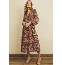 MAXI DRESS PAISLEY BORDER