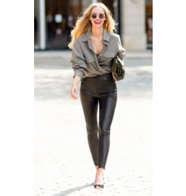 SPANX LEATHER LIKE SKINNY PANT