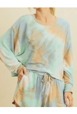 TIE DYE SHORTS LOUNGE SET