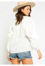 SWISS DOT RUFFLED TOP