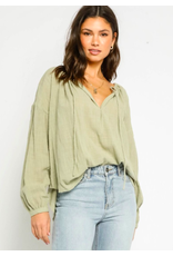 PEASANT STYLE COTTON TOP