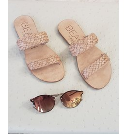 BEACH BRAIDED DUAL STRAP SANDALS