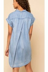 CHAMBRAY SHIRT DRESS