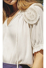SSLV BLOUSE WITH PETER PAN COLLAR