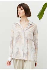 MARBLE BUTTON UP TOP