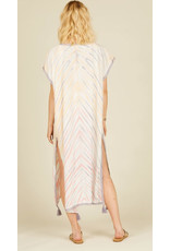 SURF GYPSY TIE DYE COVER UP WITH TASSLE TRIM