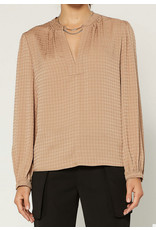 HOUNDSTOOTH JACQUARD BLOUSE