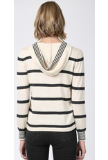 STRIPED HOODED SWEATER