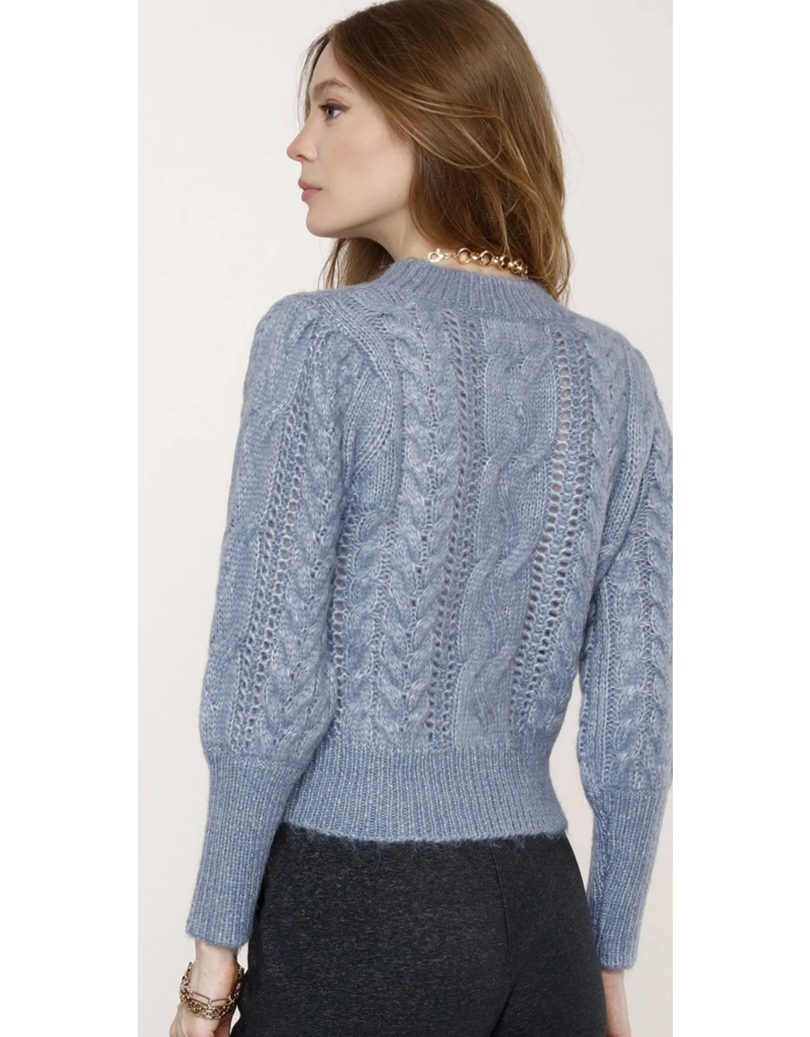 CABLE KNIT CLAIRE SWEATER