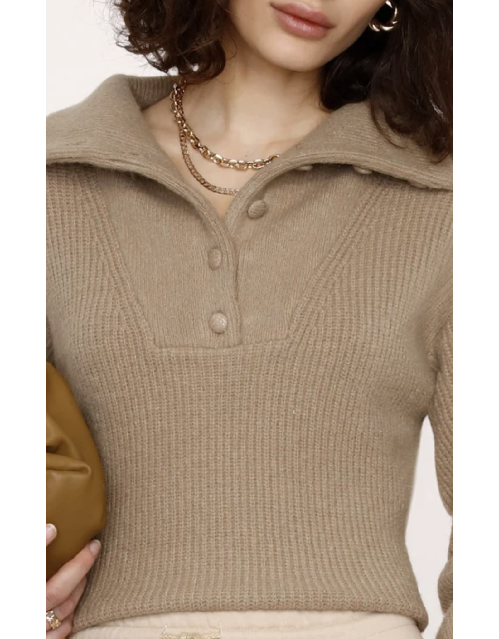 IRENE COVERED BUTTON SWEATER