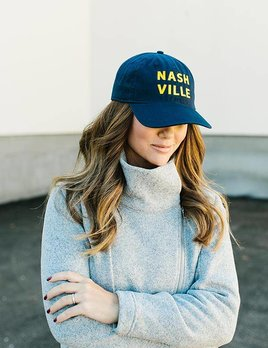 THE NASHVILLE HAT - GOLD/NAVY