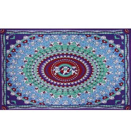 Grateful Dead Dancing Bear Mandala Tapestry-60x90