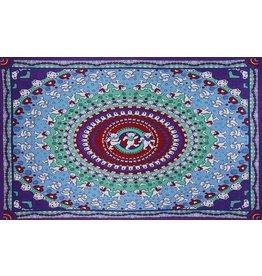 Grateful Dead Dancing Bear Mandala Tapestry-60x90