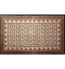 Elephant Lotus Indian Tapestry
