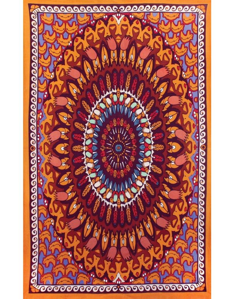 3D Wandering Bear Indian Tapestry