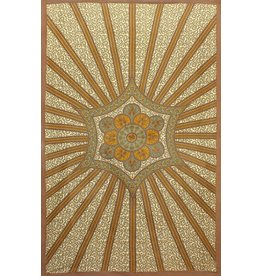Gold Flowering Star Tapestry