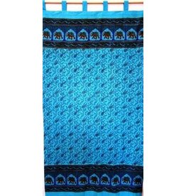 Paisley with Elephant Border Curtain
