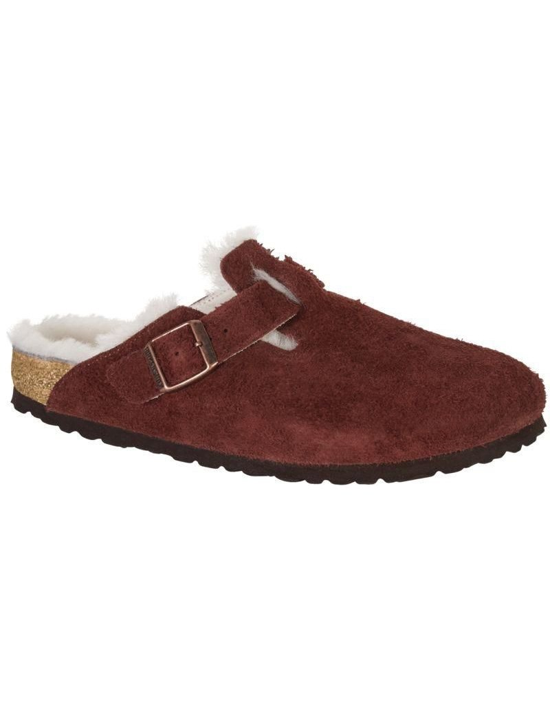 Birkenstock Boston Port Clog with Shearling Fur Lining