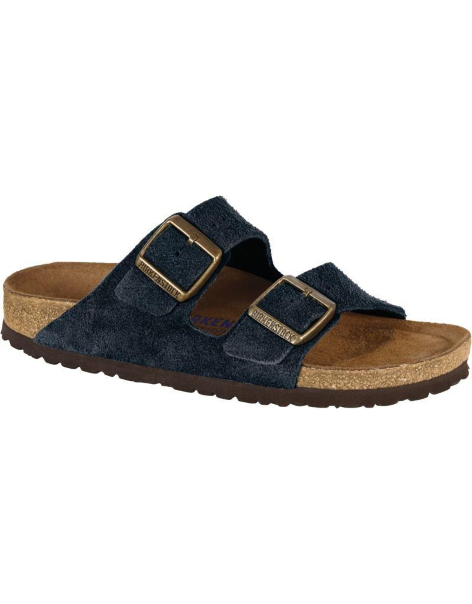 Birkenstock Arizona Soft Footbed Navy Suede Leather