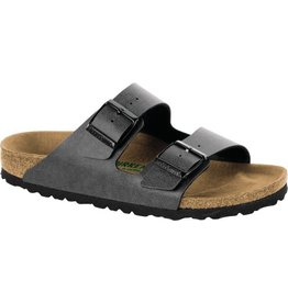 Birkenstock Arizona Vegan Pull-Up Anthracite Birko-Flor Sandal