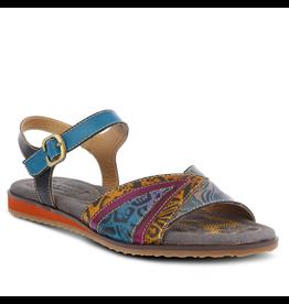 Goldenite Leather Ankle Strap Sandal