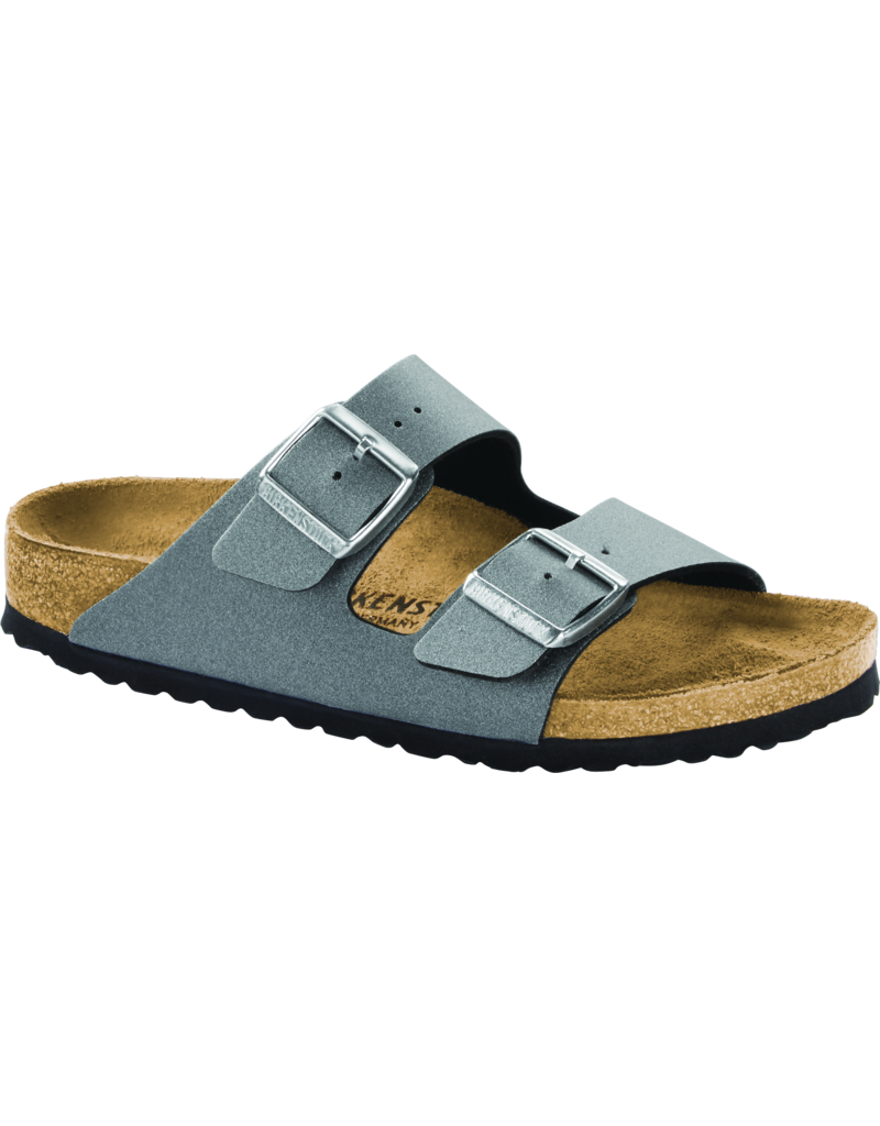 Birkenstock Arizona Icy Metallic Anthracite Birko-Flor Sandal